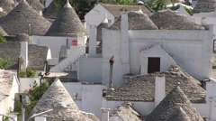 Alberobello - roofs - trulli Stock Footage