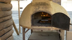 Ceramic Large Bread Oven Stock Footage
