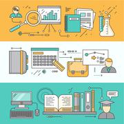 Research Planning and Learning Stock Illustration