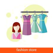 Stock Illustration of Fashion Store