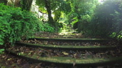 Stairs in park Stock Footage