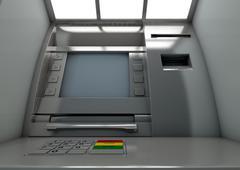 Stock Illustration of Atm Facade Closeup