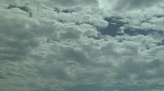 Time Lapse of Clearing Skies as Altocumulus Evaporate - stock footage