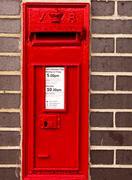RED Postal box - stock photo