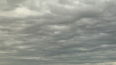Time Lapse of Gloomy Stratocumulus Asperitas Clouds Stock Footage