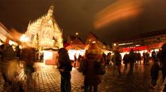 Christmas market in Nuremberg Stock Footage
