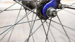 Closeup of rear Bicycle Cog - stock photo