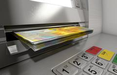 Atm Facade Cash Withdrawel - stock illustration