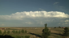 Time Lapse of Supercell on Colorado High Plains Stock Footage