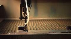 Waterjet cutting metal. View of modern machine Stock Footage