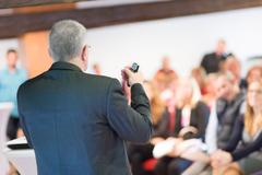 Speaker at Business Conference and Presentation. Stock Photos