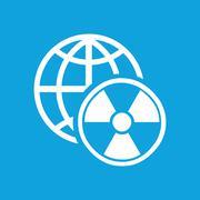 Global radiation icon, simple Stock Illustration
