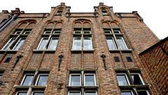 Historical facade in Brugge Belgium Stock Photos