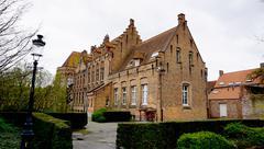 Historical building in Brugge Belgium - stock photo
