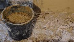 clay bucket - stock photo