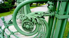 Wrought iron railing detail Stock Photos
