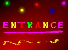 Illustration entrance Abstract colorful red blue yellow - stock illustration