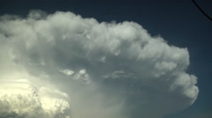 Time Lapse Close Up of Exploding Thunderstorm Anvil Stock Footage