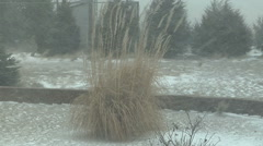 Blowing snow in the early stages of a prairie blizzard Stock Footage