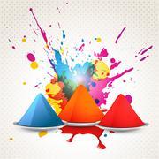 holi festival design - stock illustration