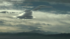 UFO Clouds in Time Lapse - Mountain Wave Rotor Cloud Stock Footage
