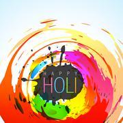 colorful holi festival - stock illustration