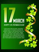 Beautiful st patrick's day design Stock Illustration