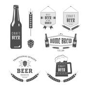 Craft beer - stock illustration