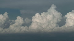 Line of Towering Cumulus Stock Footage