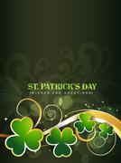 saint patrick's day design - stock illustration