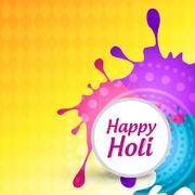 holi festival background - stock illustration