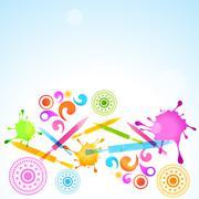 Holi festival celebration Stock Illustration