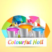 Stock Illustration of holi festival background
