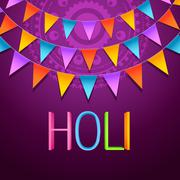 Holi festival background Stock Illustration