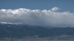 Time Lapse Cap Cloud in Rockies Downslope Windstorm Stock Footage