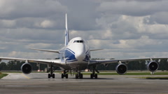 Cargo plane parked Time Lapse Stock Footage