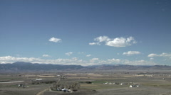 Cumulus in Time Lapse over The Colorado Front Range - stock footage