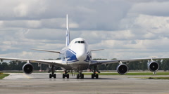 Cargo plane parked - stock footage