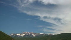Time Lapse of Cirrus Fibratus Clouds over Utah Peaks Stock Footage