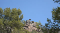 Big Rock On The Highest Of A Mountain - stock footage