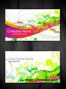 beautiful business card template - stock illustration