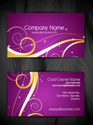 Stock Illustration of artistic floral business card design