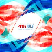 4th of july american independence day - stock illustration