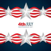 beautiful american independence day - stock illustration