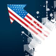 Stock Illustration of american flag arrow