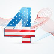 4th of july vector - stock illustration