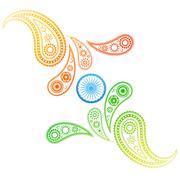 creative style indian flag - stock illustration