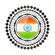 creative indian flag design - stock illustration