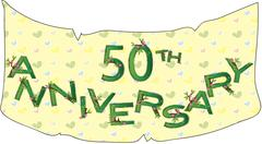 50th anniversary - stock illustration