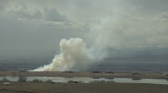 Time Lapse of Wildfire Smoke Visualizes Turbulence - stock footage